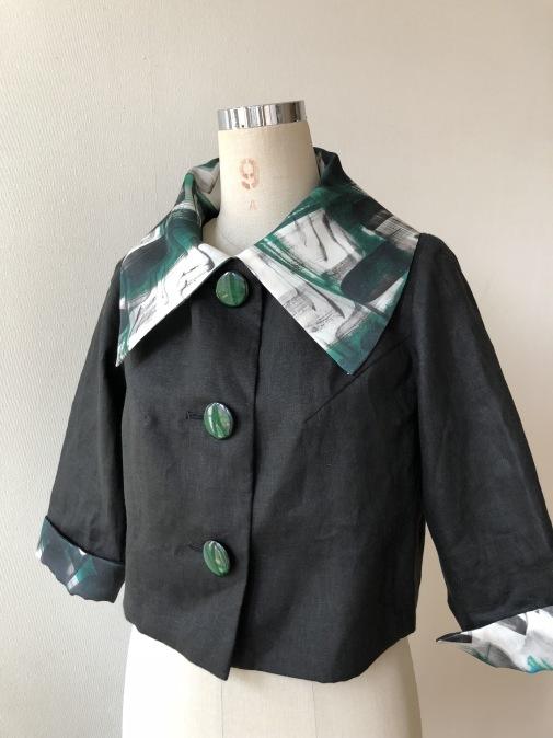 残り布でショートジャケットをお仕立てしました!_d0127925_12180041.jpg