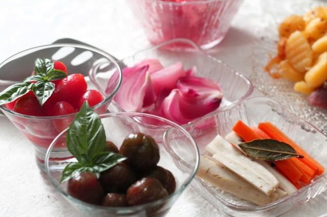うちの野菜でマリネいっぱい_d0377645_22112045.jpg