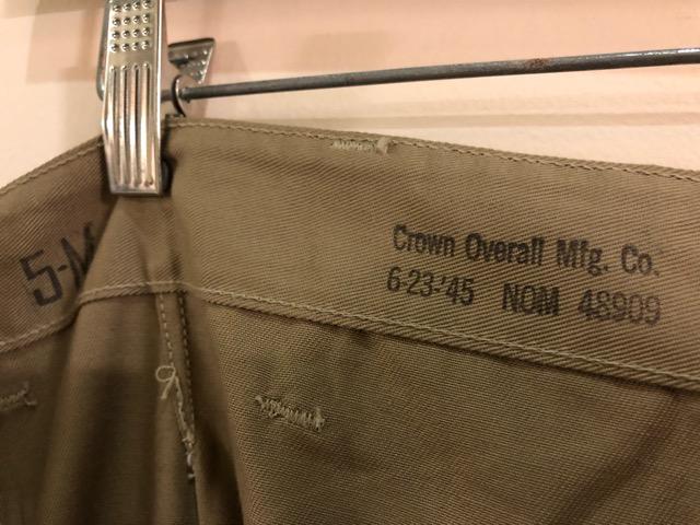 8月1日(水)大阪店ヴィンテージ入荷日!!#2 U.S.Military Part2編!NOS 40\'s USMC W.StitchChino&M-43 HBT FieldTrousers!!_c0078587_2253212.jpg
