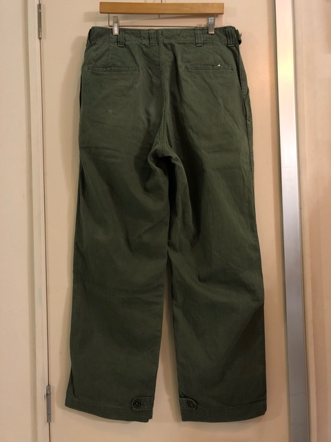 8月1日(水)大阪店ヴィンテージ入荷日!!#2 U.S.Military Part2編!NOS 40\'s USMC W.StitchChino&M-43 HBT FieldTrousers!!_c0078587_22541495.jpg
