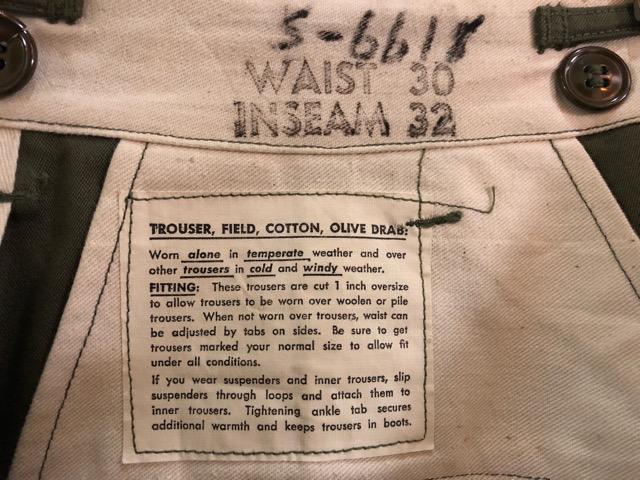 8月1日(水)大阪店ヴィンテージ入荷日!!#2 U.S.Military Part2編!NOS 40\'s USMC W.StitchChino&M-43 HBT FieldTrousers!!_c0078587_22563045.jpg