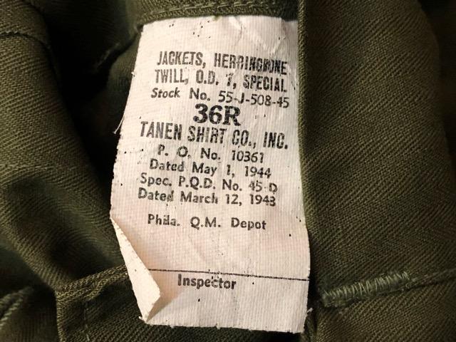 8月1日(水)大阪店ヴィンテージ入荷日!!#2 U.S.Military Part2編!NOS 40\'s USMC W.StitchChino&M-43 HBT FieldTrousers!!_c0078587_22585850.jpg