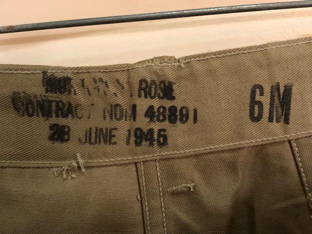 8月1日(水)大阪店ヴィンテージ入荷日!!#2 U.S.Military Part2編!NOS 40\'s USMC W.StitchChino&M-43 HBT FieldTrousers!!_c0078587_2295917.jpg