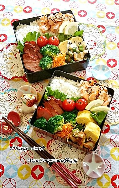鮭弁当とソフトバゲット♪_f0348032_18520491.jpg