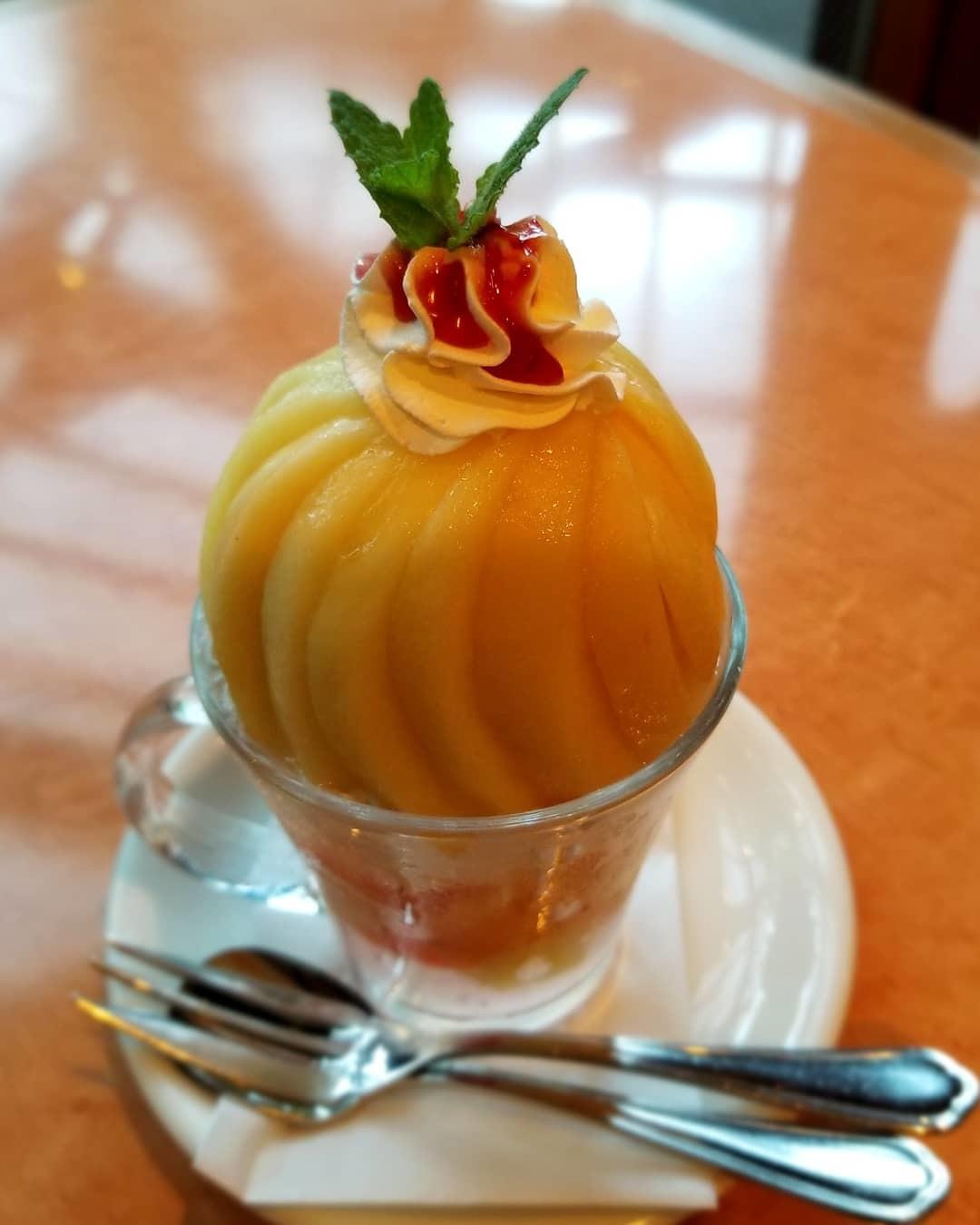 桃のデザート*Cafe & Dining CRESCENT/クレッセント @小諸_f0236260_18001473.jpg