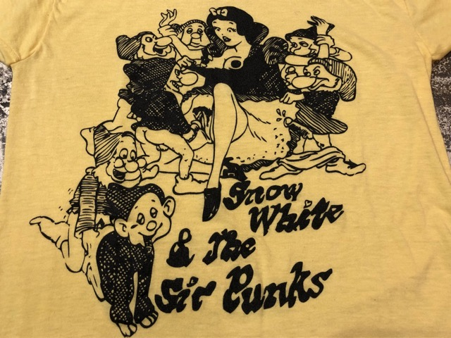 8月1日(水)大阪店ヴィンテージ入荷日!!#3 Vintage T-Shirt編!Snow White&The Six Punks!!_c0078587_13264973.jpg