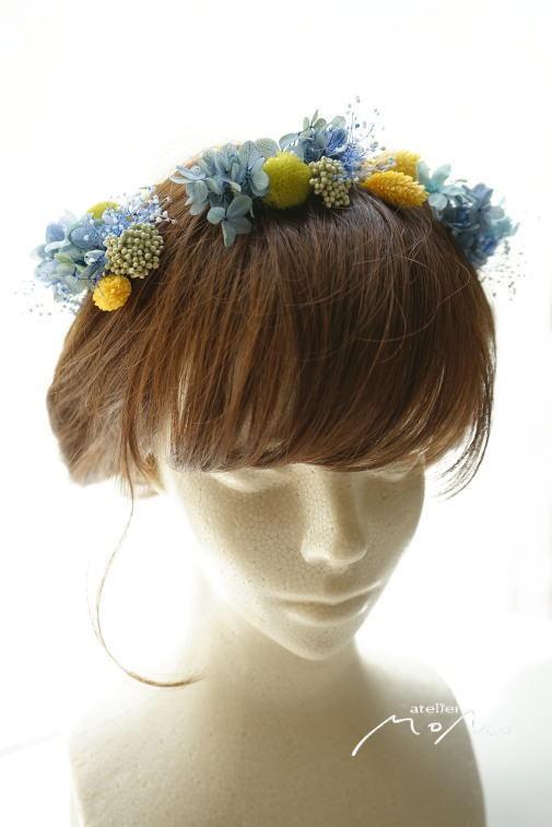 #ヘッドドレス ブルー紫陽花で!_a0136507_21274493.jpg