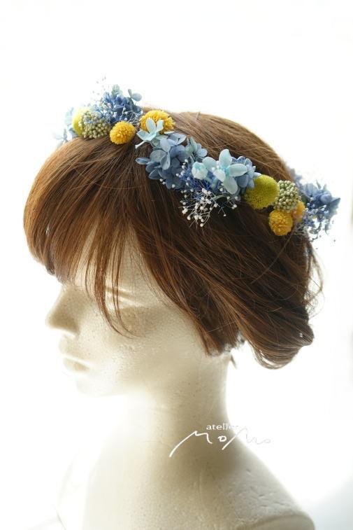#ヘッドドレス ブルー紫陽花で!_a0136507_21280731.jpg
