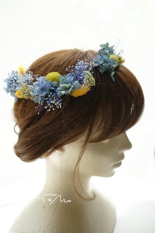 #ヘッドドレス ブルー紫陽花で!_a0136507_21283126.jpg