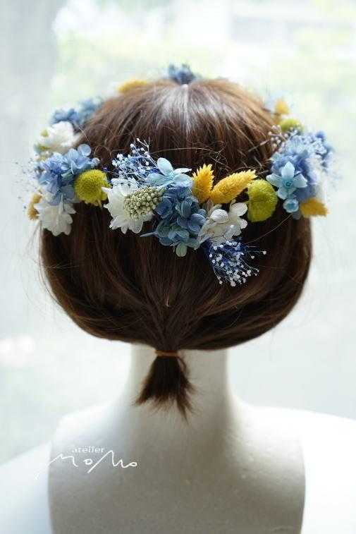 #ヘッドドレス ブルー紫陽花で!_a0136507_21284479.jpg