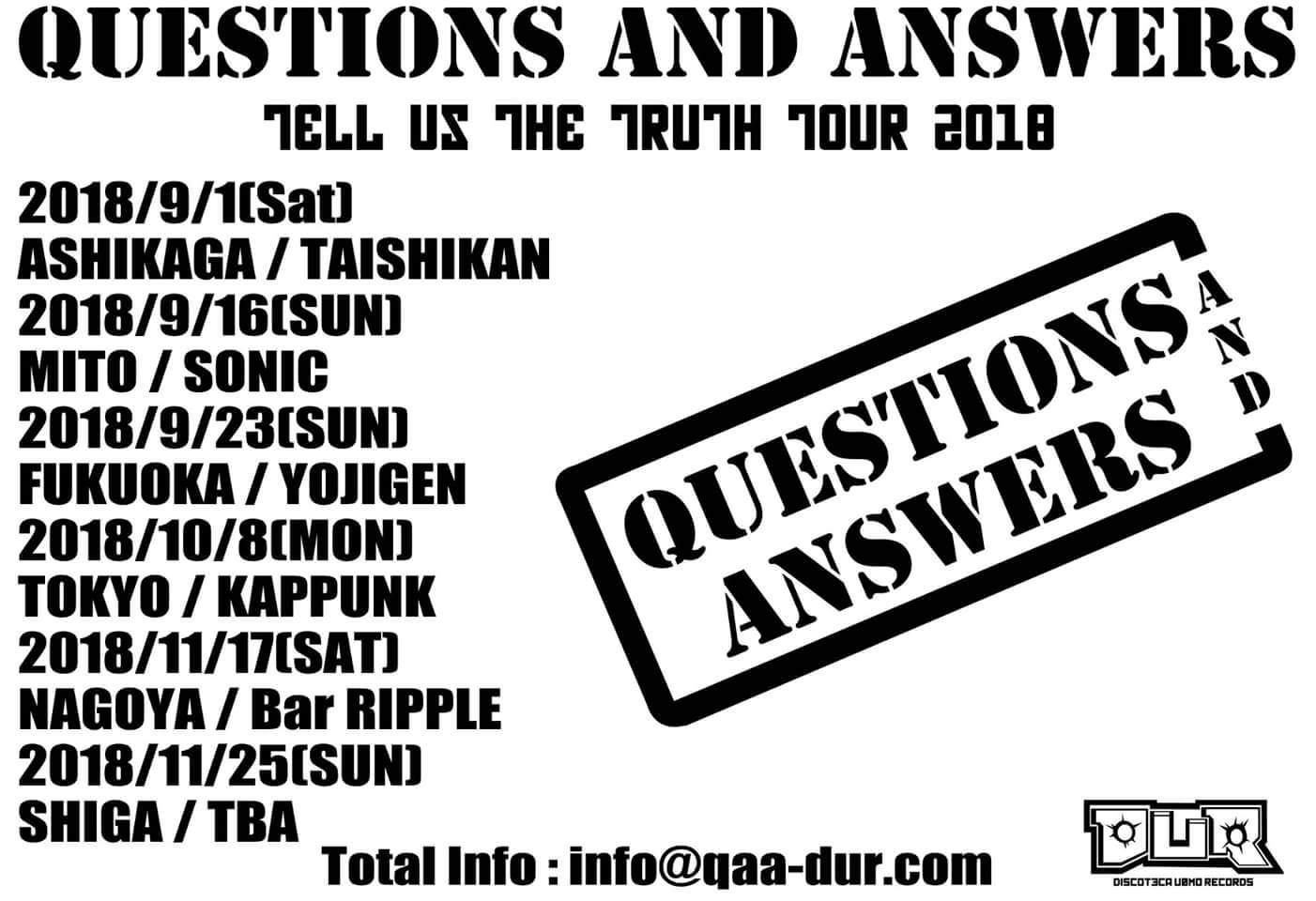 【8月はお休みの】Tell Us The Truth Tour 2018【QAAですけどもー】_c0308247_07450823.jpg