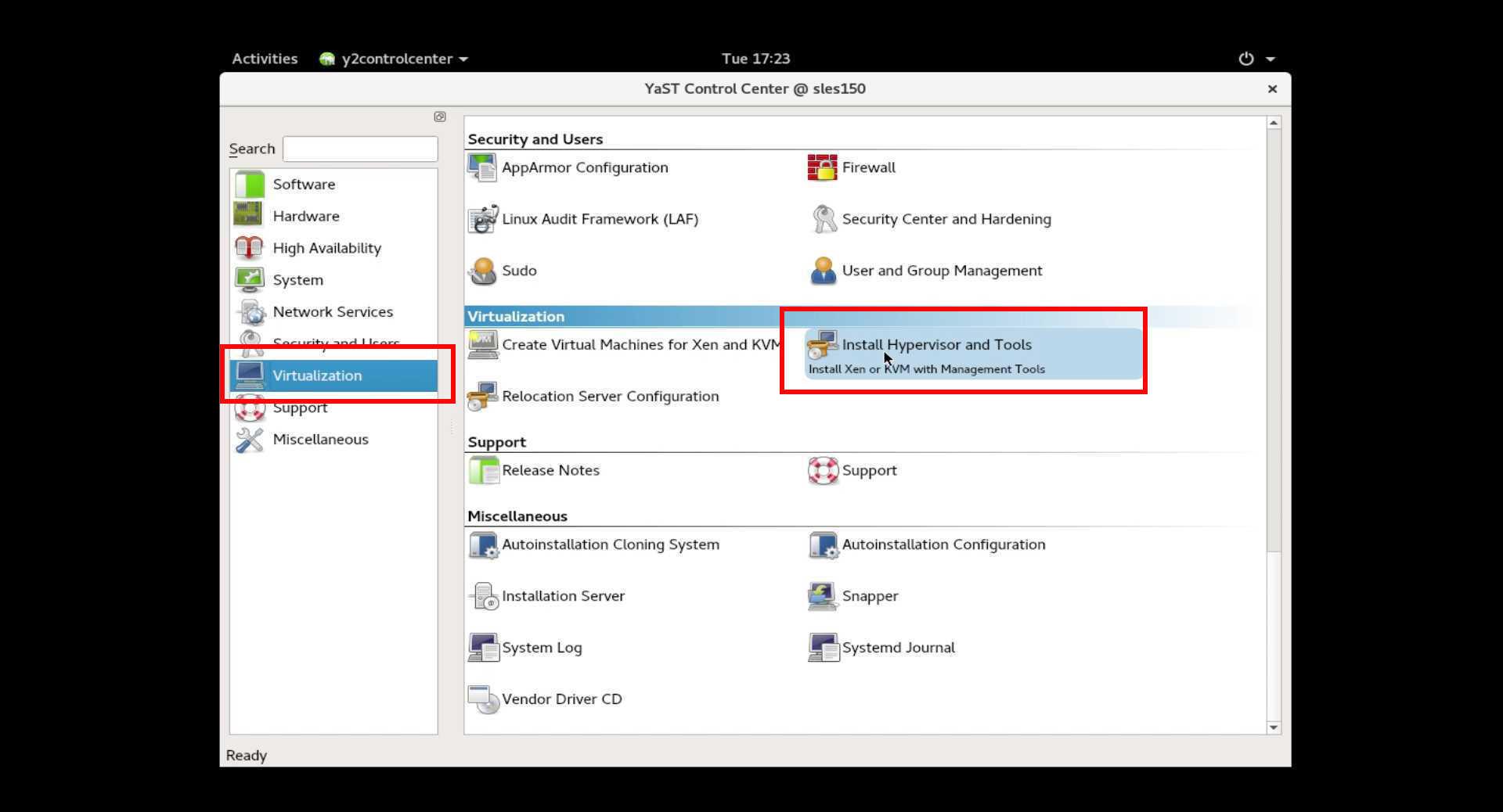 SUSE Linux 15 (SLES15) でKVM/XEN仮想環境をインストール。_a0056607_16423809.jpg
