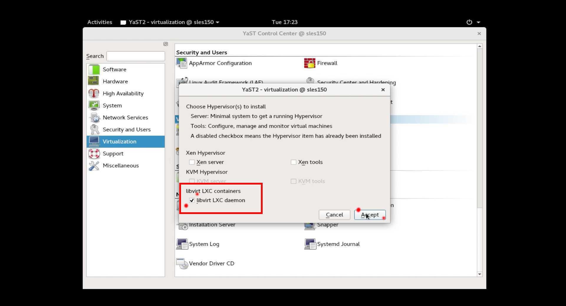 SUSE Linux 15 (SLES15) でKVM/XEN仮想環境をインストール。_a0056607_16425253.jpg