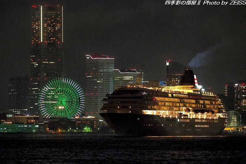 飛鳥Ⅱが夜遅くに横浜港より出港!_d0358854_10545529.jpg