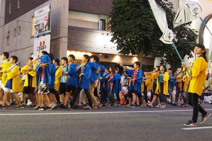 北海道教育大学函館校チーム。ワッショイはこだて千代台五稜郭コースより_b0106766_1384068.jpg