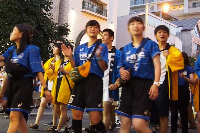 北海道教育大学函館校チーム。ワッショイはこだて千代台五稜郭コースより_b0106766_1384184.jpg