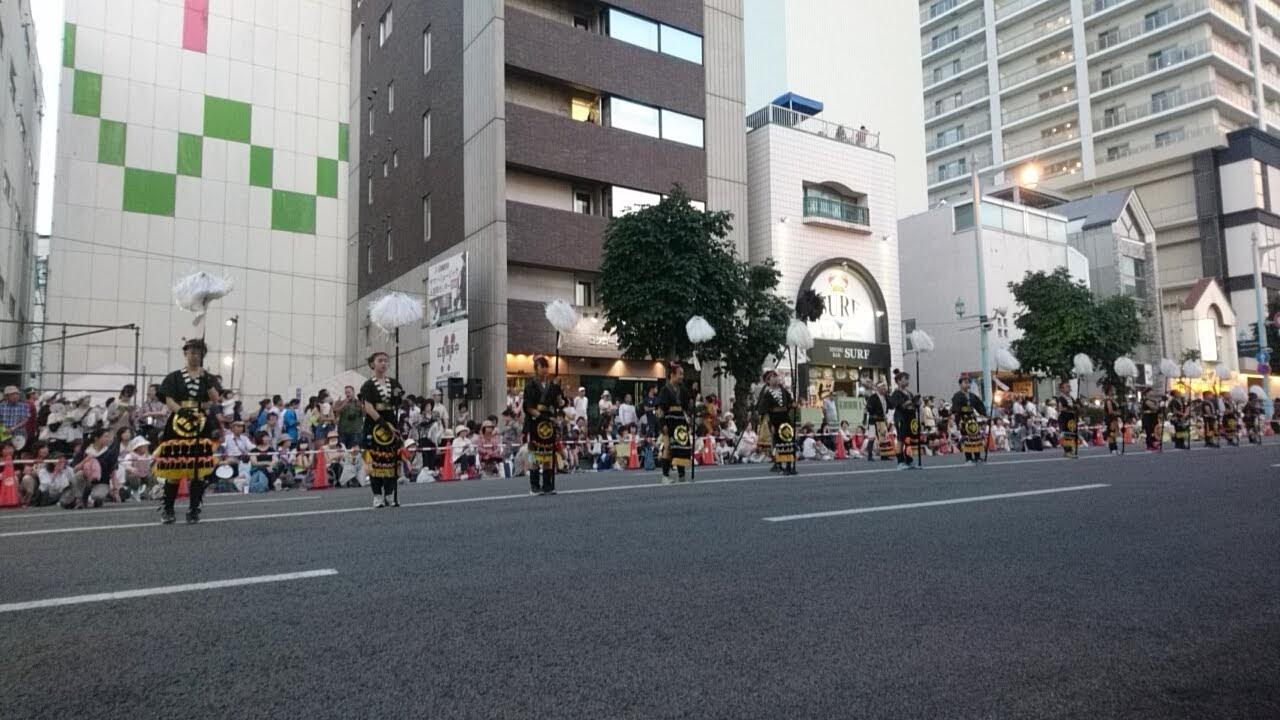 湯の川祭りの会、ワッショイはこだて千代台五稜郭コースより_b0106766_1425683.jpg