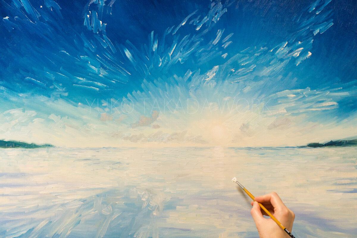 夏の空と海を描きはじめました!_b0240382_21415988.jpg