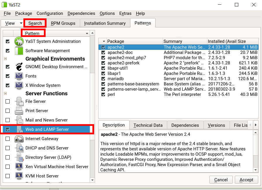 SUSE linux 15 (SLES15) で HTTPサーバー と php7を動かす_a0056607_15010201.jpg