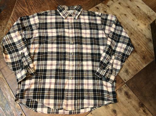 本日入荷! 80s Made in USA L .L .Beanネルシャツ_c0144020_15050326.jpg