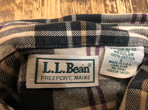 本日入荷! 80s Made in USA L .L .Beanネルシャツ_c0144020_15050914.jpg