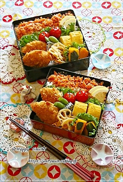 鮭フレーク弁当とパン焼き♪_f0348032_18100203.jpg
