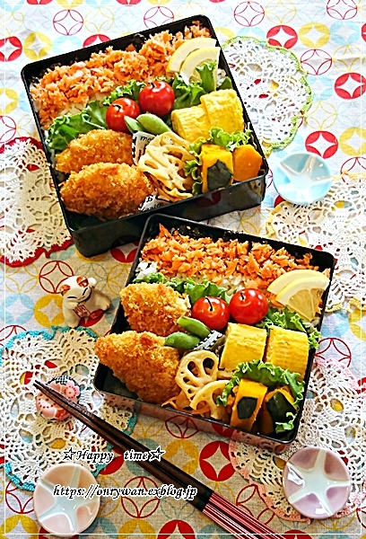 鮭フレーク弁当とパン焼き♪_f0348032_18101298.jpg