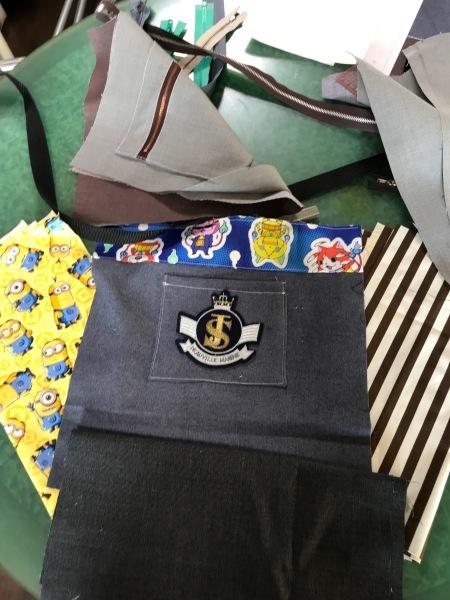 孫のサブバッグの残布で、アニメカバを作ります。_e0397389_16184290.jpg