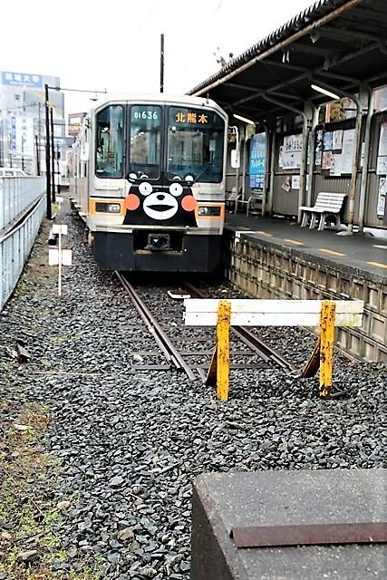 藤田八束の鉄道写真@熊本電鉄のくまモン列車、熊本の人たちの愛情を一身に浴びてくまモン電車は走ります_d0181492_21523412.jpg