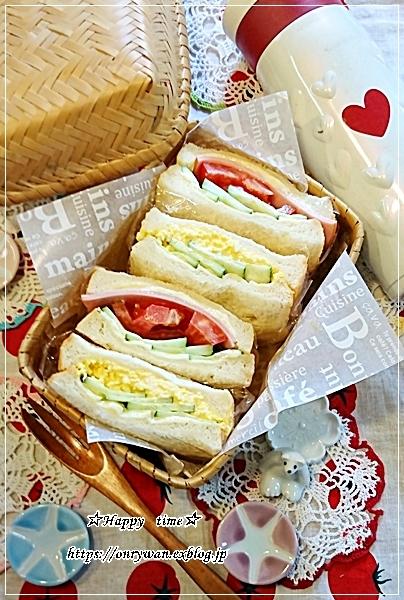 山食でサンドイッチ弁当と今夜はカニ玉♪_f0348032_18471696.jpg