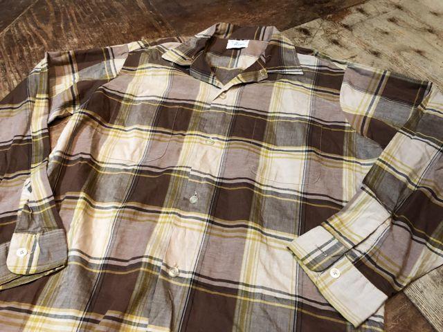 8月11日(土)入荷!60s オープンカラーボックスシャツ!_c0144020_15063354.jpg