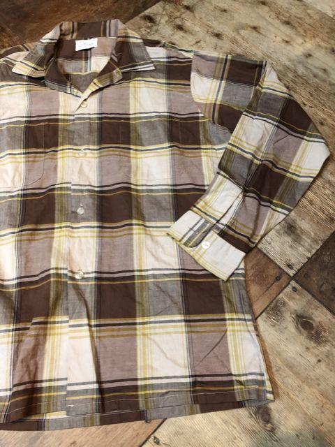 8月11日(土)入荷!60s オープンカラーボックスシャツ!_c0144020_15065111.jpg