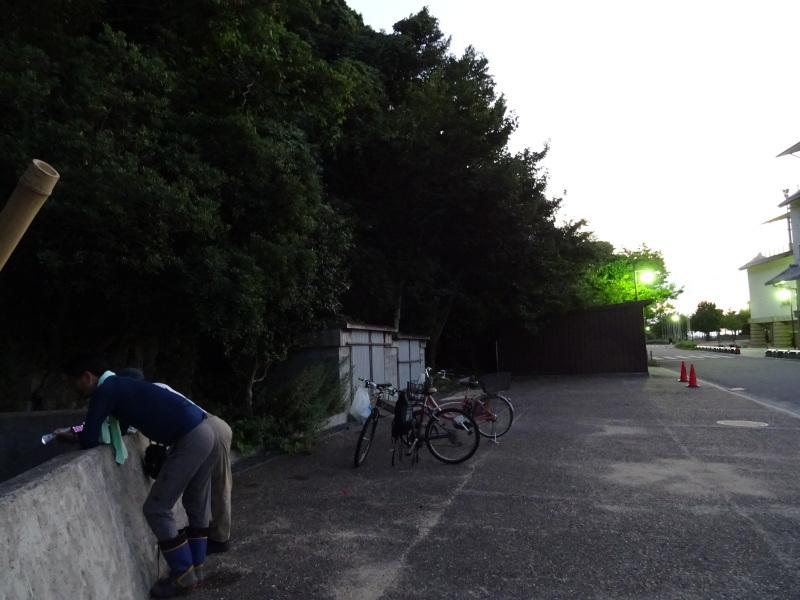 「カニ放仔観察会」リハーサル・・・せんなん里海公園内あふれ滝_c0108460_23115141.jpg
