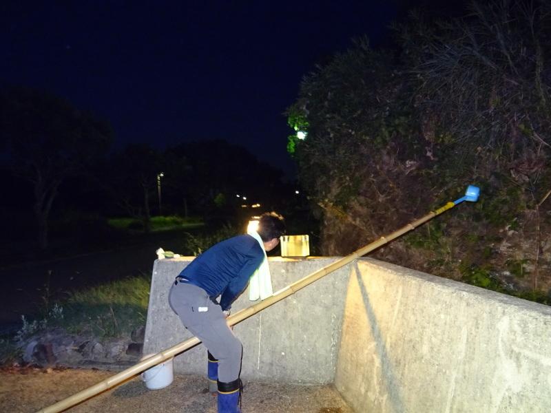 「カニ放仔観察会」リハーサル・・・せんなん里海公園内あふれ滝_c0108460_23260786.jpg