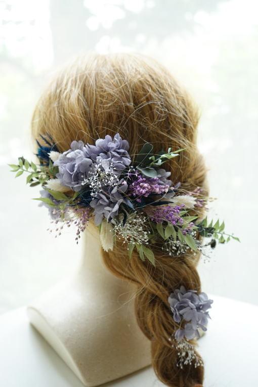 #クラッチブーケ 紫のカラーで!_a0136507_23190352.jpg