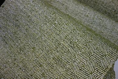 新しい山形斜文の八寸帯地は、『となりの芝生』。_f0177373_20213521.jpg