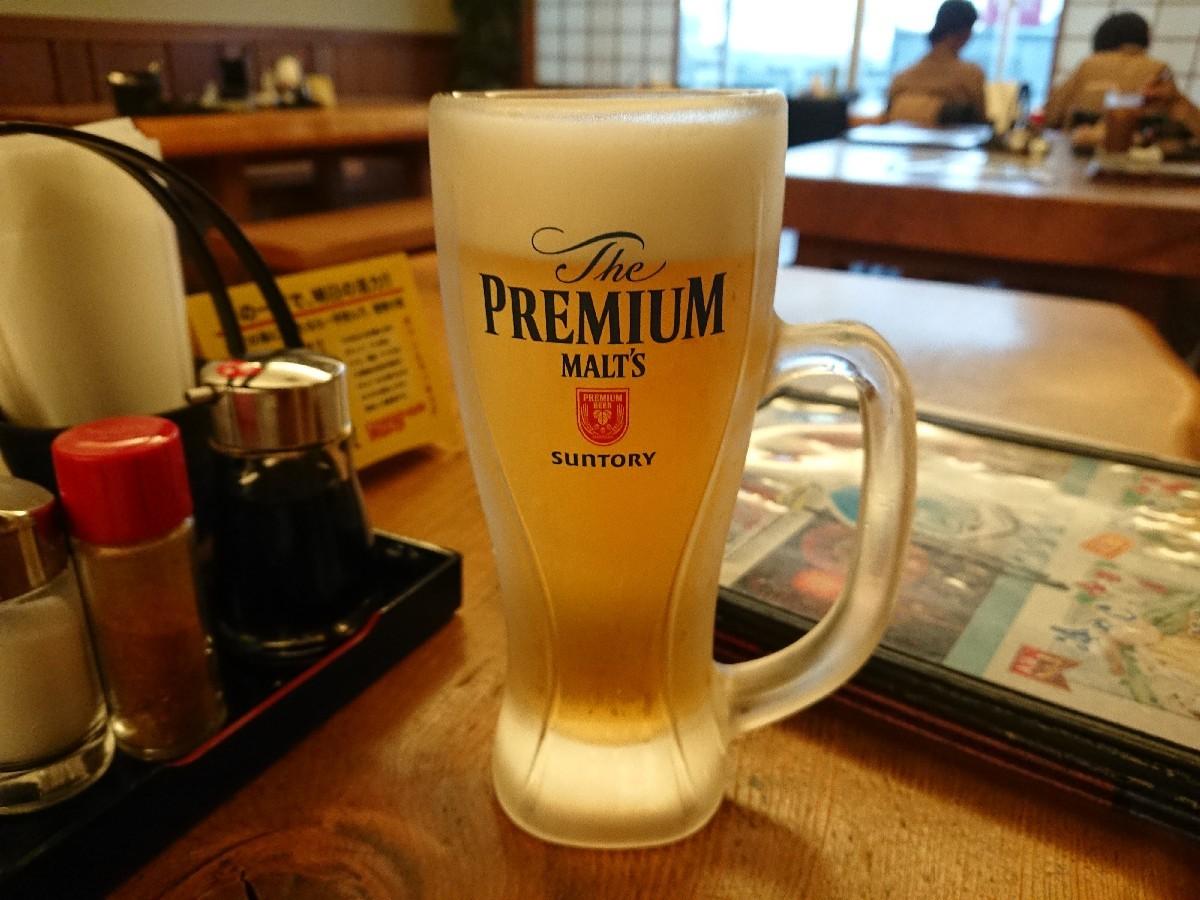 8/13  きっさこ  生ビール & 豚生姜焼定食@縄文の湯_b0042308_19370803.jpg