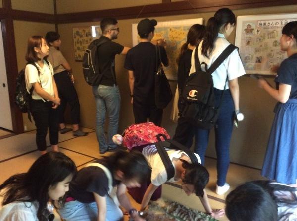 金沢大学生14人が「芭蕉の舘」を訪れました。_f0289632_13184186.jpg