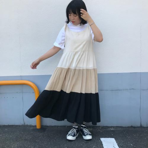 80\'s USmade Cotton Dress _a0182112_13343954.jpg