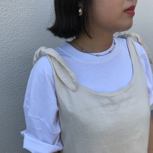 80\'s USmade Cotton Dress _a0182112_13385622.jpg