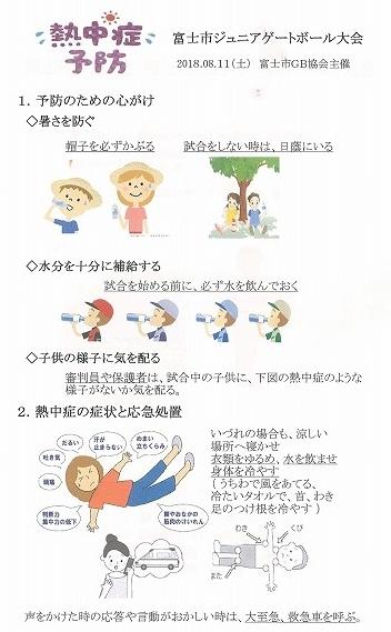 雨が降らず、うだる暑さの中で行われた「第23回 富士市ジュニアゲートボール大会」_f0141310_07344566.jpg