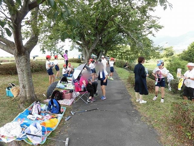 雨が降らず、うだる暑さの中で行われた「第23回 富士市ジュニアゲートボール大会」_f0141310_07345108.jpg