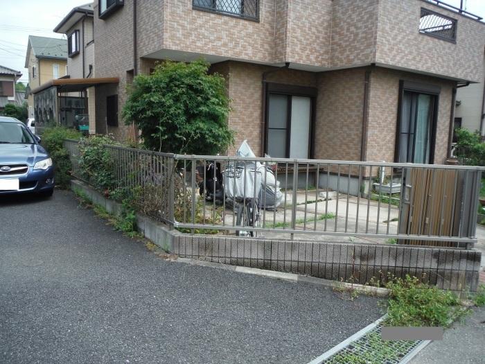 小工事 ~ 駐車場の入口を広げる1。_d0165368_11073004.jpg