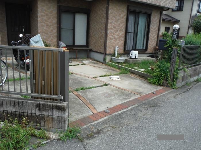 小工事 ~ 駐車場の入口を広げる1。_d0165368_11073948.jpg