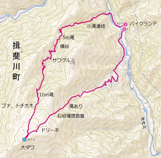 横谷〜大ダワ〜バイクランド右岸支流_e0064783_20584053.jpg