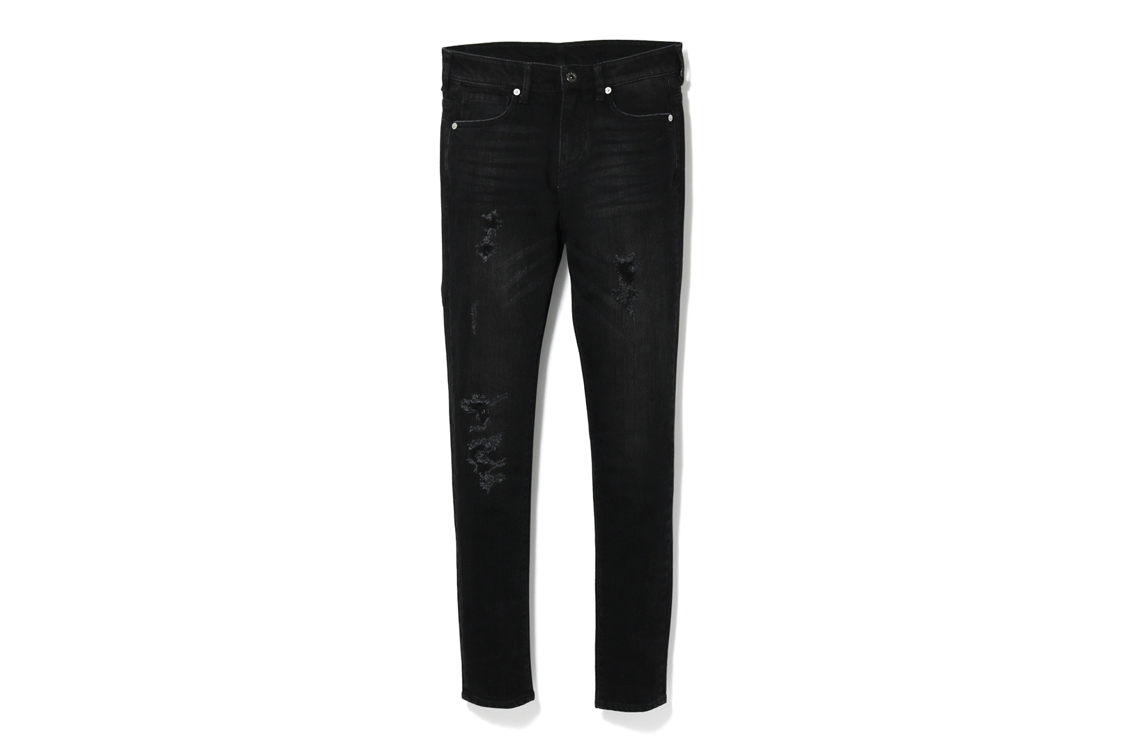 BATHING APE DAMAGED SKINNY DENIM PANTS_a0174495_12452817.jpg