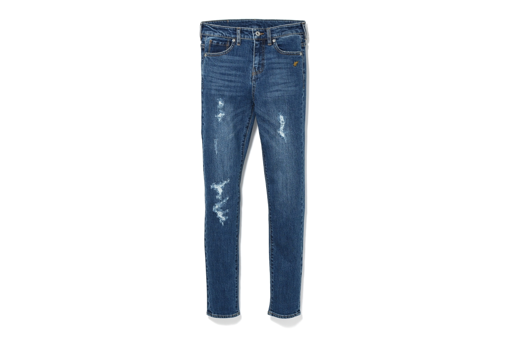 BATHING APE DAMAGED SKINNY DENIM PANTS_a0174495_12454512.jpg