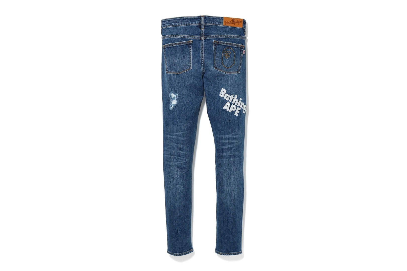 BATHING APE DAMAGED SKINNY DENIM PANTS_a0174495_12455323.jpg
