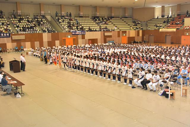 鳥取全中開会式 と砂丘_b0249247_21024482.jpg