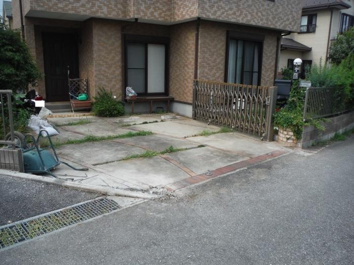 小工事 ~ 駐車場の入口を広げる2。_d0165368_04023439.jpg